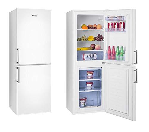 Amica Kühl-Gefrierkombination Weiß 138L 148cm hoch automat. Abtauen KGC 384 110 W Kühlschrank mit Gefrierfach