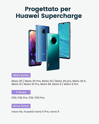 RAMPOW Cavo USB C, Huawei 5A Supercharge Cavo USB Type-C Ricarica Veloce para Huawei P30/P30 Pro/P30 Lite, Huawei P20/P20 Pro/P20 Lite, Huawei P10/P9, Huawei Mate 20 PRO, Honor Note 10, ECC - 1M