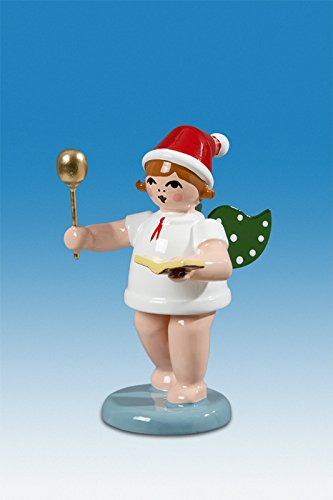 Bäckerengel Weihnachtsengel mit Löffel und Kochbuch mit Mütze Höhe ca 6 cm NEU Holzengel Weihnachtsengel Erzgebirge Holz