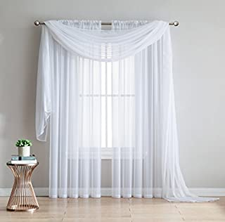 Amazing Sheer - 2-Piece Rod Pocket Sheer Panel Curtains Fabric Sheer - Voile Curtains for Window Treatment - Natural Light Flow (56