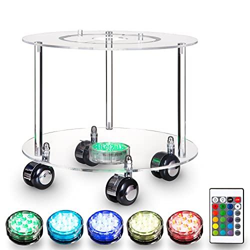 Shisha Tisch mit LED Licht - Edle Optik - Acryl Tisch - LED Untersetzer Shisha - Shisha LED - Shisha LED Untersetzer - Multi-Color LED Licht