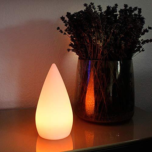 Arnusa Oasis Lights Tischlampe mit Akku und Fernbedienung Nachttischlampe RGB 24 cm PL108 LED Zimmerlampe Dekoleuchte Stimmungslampe