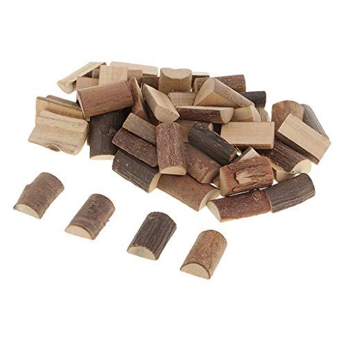 Baoblaze 50 Stück Rustikale Half Cut Baumscheiben Holzscheit Slab Scheiben Hochzeit Scrapbooking DIY