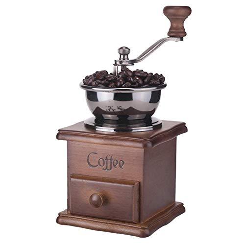 LYYJIAJU Handmatige Koffiemolen, Vintage Stijl Handslijper Koffiemolen Koffiebonen Machine met Keramische Slijpkern, Draagbaar - Houten