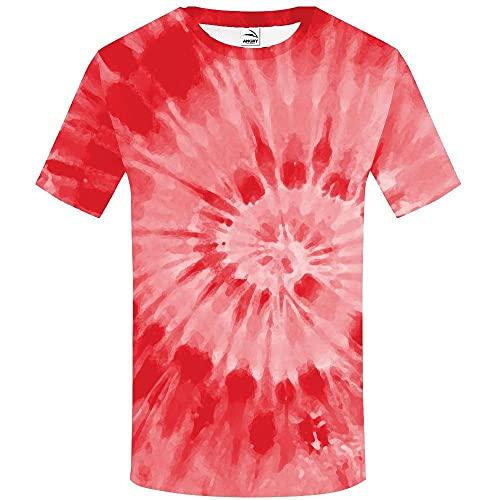 XIELH Camisetas Manga Corta Hombre Talla Grande Verano 3D Estampada De Camiseta De Cuello Redondo Hombre Camisas Casual T-Shirt-2_M