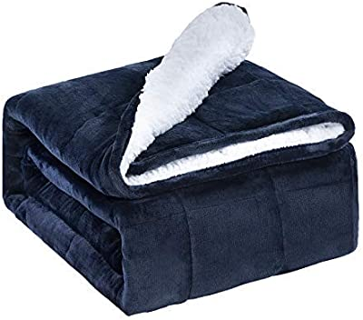 80x87 Argstar Sherpa Fleece Weighted Blanket for Adults 25 Lbs On King Bed Dark Grey. Soft Cozy Fuzzy Heavy Blankets with Premium Glass Beads
