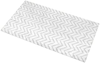 Little Things 25 LARGE Disposable Baby Diaper Changing Pads, 100% Leak-Proof Sanitary Mats for Changing Tables, Great for Travel, Premium Liners 26.75x18 in (Gray Chevron Pattern)