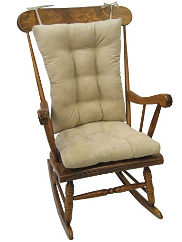 Klear Vu Twillo Overstuffed Rocking Chair Cushion Set, Seat 17' x 17' and Seatback 21' x 17', Stone
