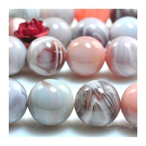 CGBH Granos Granos de la ágata de Botswana rosa suave y natural redonda de la joyería de piedra floja de bricolaje collar de piedras preciosas Haciendo Diseño Regalo ( Item Diameter : 4mm 1strand )
