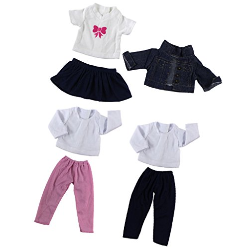 Toygogo 3 Sets Modische Puppenkleidung Puppenbekleidung Outfits Anzug für 18 Zoll Amerikanische Mädchen Puppe