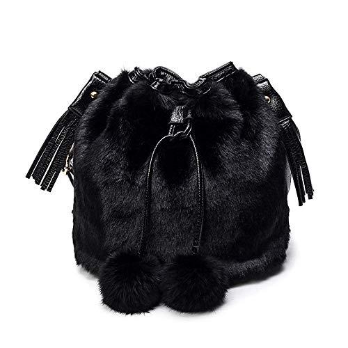 xiaokeai Bolso Bandolera Bolso Mujer Estampado Leopardo-Negro Mochila,Mochila Mujer,Mochila Vans