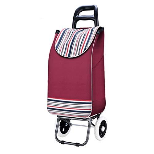 HIZLJJ Smart Cart Collapsible Rolling Utility Cart Basket Grocery Shopping Teacher Hobby Craft Art