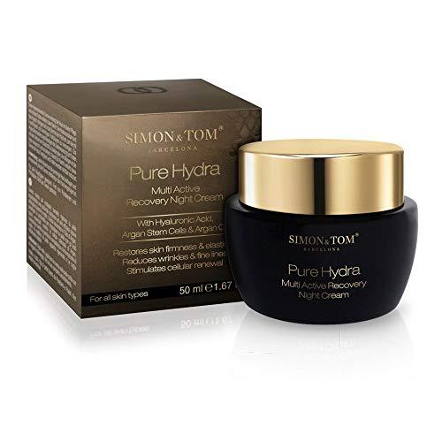 Simon & Tom – PURE HYDRA – Crema Facial Hidratante de Noche – Reduce las Arrugas y Reafirma la piel – Con Aceite de Argán Orgánico, 50ML