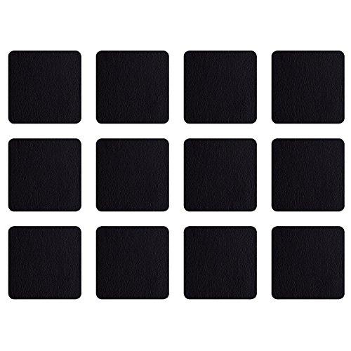 ASA Selection 7835420 Untersetzer für Gläser, 10 x 10 cm, Kunststoff in Lederoptik, schwarz (3 x 4er Pack)