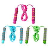Best Kids Jump Ropes - Eeoyu 3 Pack Adjustable Soft Skipping Rope Fitness Review