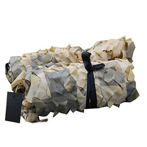 ZHJBD camouflagennet, camouflagennet, net, leger, met snaren voor de jacht naar eend en hert, zonneklep, decoratie, camping, themafeest, CS-spel, Woodland net, zonnebeschermingsnet 5x10m