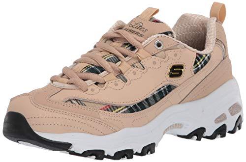 Skechers DLITES - Mountain ALPS, Zapatillas para Mujer, Beige Natural Negro Ntbk, 41 EU
