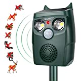 Diaotec Ultrasonic Animal Outdoor Repellent Solar Powered Cats Birds...
