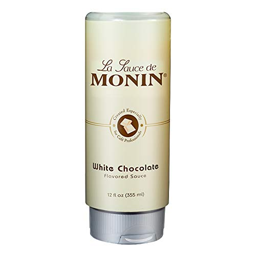 Monin - Gourmet White Chocolate Sauce, Creamy and Buttery, Great for Desserts, Coffee, and Snacks, Gluten-Free, Non-GMO (12 Ounce)