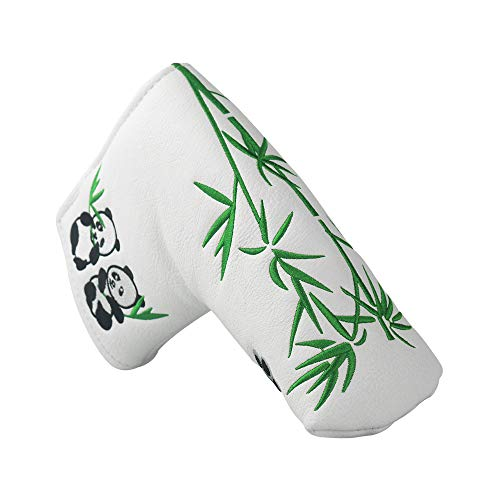 PINMEI Golf Putter Headcover Synthetic Leather Magnetic Closure for Scotty Cameron Odyssey Blade Taylormade Ping (Black)