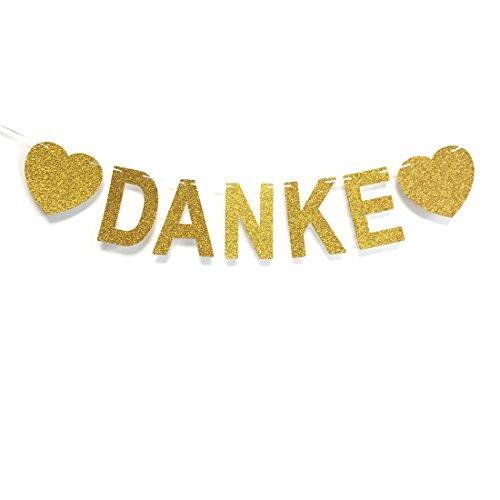 Andgo Danke Banner Hochzeit Banner für Hochzeitsfeier Banner Girlande Zeichen Braut Dusche Foto Stützen Hängende Dekor Hochzeit Party Dekorationen