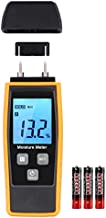 Handheld Wood Moisture Tester Meter with Backlight, Digital Moisture Detector Meter Tester for Firewood Moisture Cement Mortar, Humidity Meter for Wood, Timber Water Content Detector