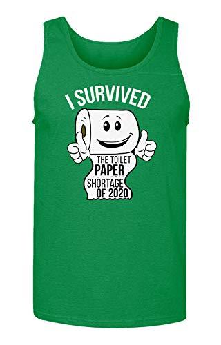 Sheki Apparel Coronavirus 2020 Toilet Paper Shortage Covid 19 Humor Men's Tank Top (Green, Medium)