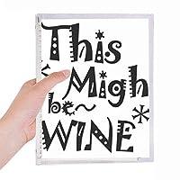 このワインは、引用であるかもしれません 硬質プラスチックルーズリーフノートノート