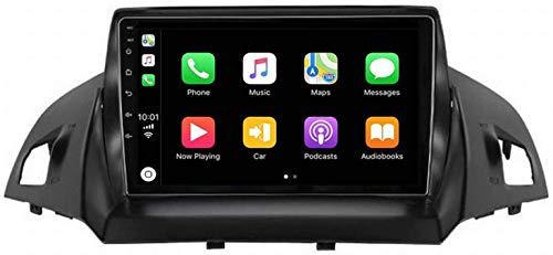 MIVPD Compatible para Ford Kuga 2013-2017 Sat Nav Android 8.1 Unidad De Cabeza FM Radio Receptor Auto Audio Player MP5 Coche Estéreo De 9 Pulgadas Pantalla Táctil Navegación GPS,8 Core 4G+WiFi 4+64GB