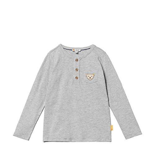 Steiff Henley Langarm T-Shirt À Manches Longues, Gris (Quarry 9007), 95 (Taille Fabricant: 80) Bébé garçon