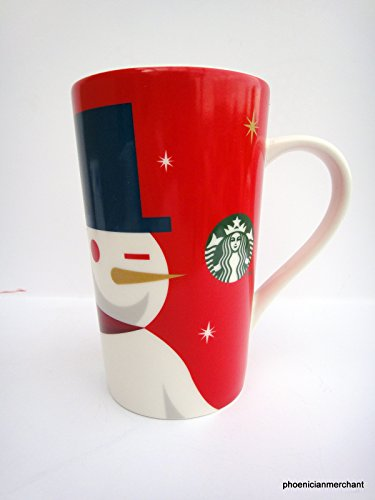 Starbucks 2012 Holiday Red Cup Mug Snowman 16 fl ozl Coffee Tea Mug