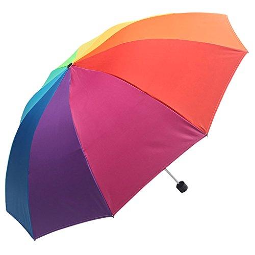 Unbekannt Meters Schwarze Sonnencreme Sonnenschirm Sonnenschirm sonnigen Regen doppel Regenschirm super Regenbogen Regenschirm