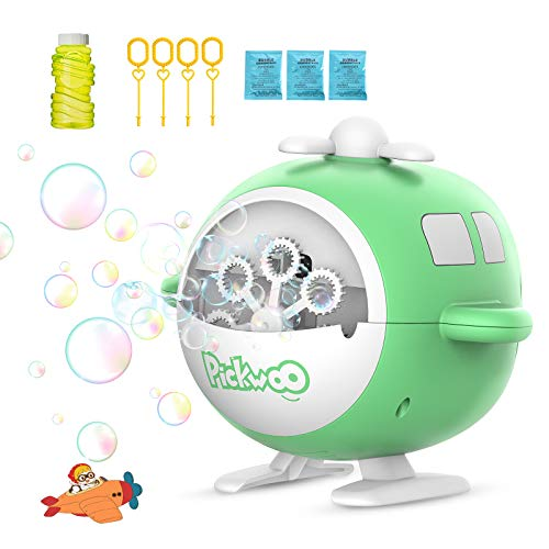 Pickwoo Seifenblasenmaschine für Kinder,Seifenblasen Spielzeug Automatische Blasenblasmaschine USB Wiederaufladbar Bubble Maker Blower mit Bubble Liquid Outdoor Indoor Geschenk für Party Hochzeit