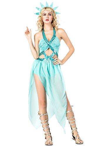 RedJade Lady Liberty Kleid Cosplay Kostüm für Erwachsene
