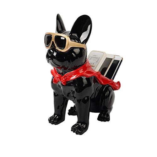 BINGFANG-W Decoración Caja de pañuelos Decoraciones del Arte del Perro del Arte Creativo Bandeja de Mesa de café del hogar de Almacenamiento de Tabla 3 Salón estatuas