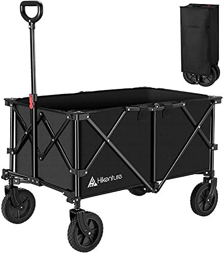 Hikenture Folding Wagon Cart, Portable Large...