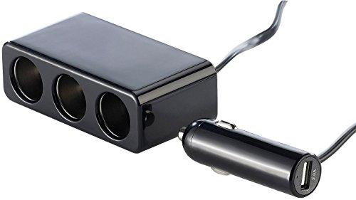 reVolt 12V Verteiler: 4-Fach Kfz-Verteiler mit 3X 12-/24-V- und 1x5-V-USB-Buchse, 72W (12 Volt Steckdose)