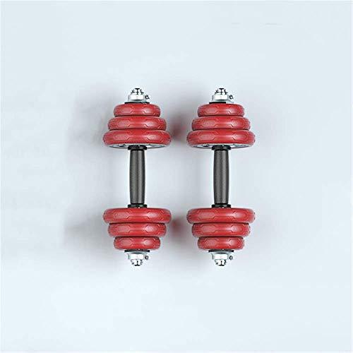 N\A Hanteln, Gewichtseinstellung Gusseisen Plating Dumbbells für Männer Home Fitness, freies 30Cm Foam Pleuelstangen, 10Kg (5 kg * 2),Rot