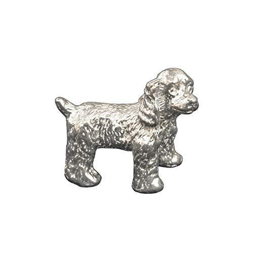 Spaniel-Hund, Spaniel-Figur, Spaniel-Hund-Skulptur, Glückshund, Spaniel Geschenk, Handgegossen von William Sturt, aus Deutsche Zinn (Pewter)