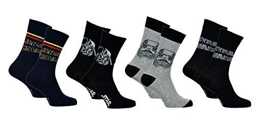Herren Socken Star Wars Komfort und Fantasie aus Baumwolle – verschiedene Modelle für Fotos je nach Verfügbarkeit Gr. 43/46, 3er-Pack Asst1