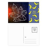 ブラウンスタークリスタルスカイファンタジーユニバース バナナのポストカードセットサンクスカード郵送側20個
