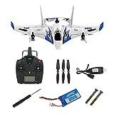 Formulaone JJRC-M02 6 canaux RC 3D Avion de voltige télécommande décollage Vertical atterrissage Avion à voilure Fixe Avion Drone Jouets-Bleu