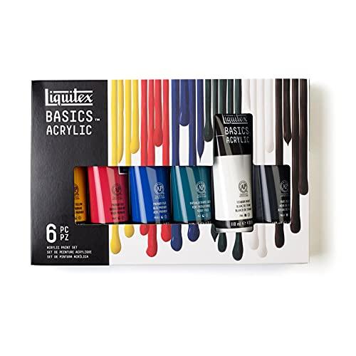 Liquitex BASICS 6 Tube Acrylic Paint Set