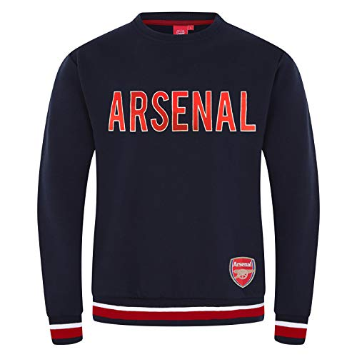 Arsenal FC Official Soccer Gift Mens Crest Sweatshirt Top Navy Large