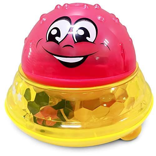 TYUXINSD Lovely Juguetes Creative Water Bath Bath Toy Ballale Forma LED Luz Agua Agua Pelota Bola Baño Juguetes Agua Juguetes de Inducción Automáticos para Niños Regalo (Color: Bola roja con Base)