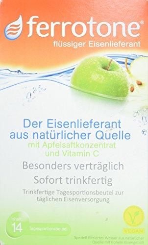 Ferrotone flüssiger Eisenlieferant mit Apfelsaftkonzentrat und Vitamin C, 14 St. Beutel