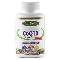 海外直送品 Paradise Herbs Vegetarian Capsules, Qveg Coq10, 60 Count