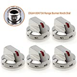 DG64-00473A Range Burner Knob Dial[ Upgraded & Heavy Duty ] Compatible with Samsung Range Oven - Replacement...