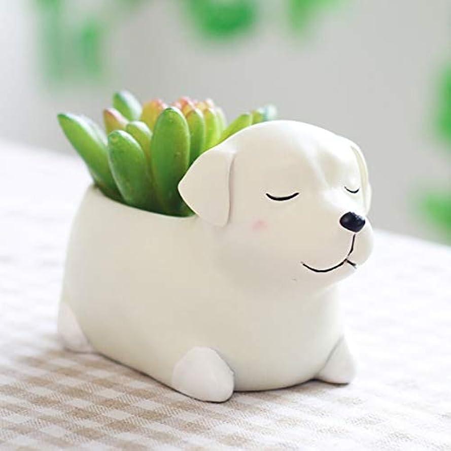 死にかけている部門カート多肉植物かわいいコーギーミニフラワーポットデスクトップポットホームガーデン盆栽用のホット漫画のクリエイティブフラワーベース子犬樹脂プランター:米国、ショーとして