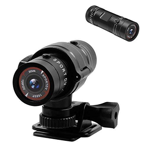 UYIKOO Videocamera Sportiva, Moto Fotocamera, Macchina Fotografica della Bicicletta, HD 1080P Mini Macchina Fotografica Nascosta 120° Grandangolare d'azione con Registrazione in Loop